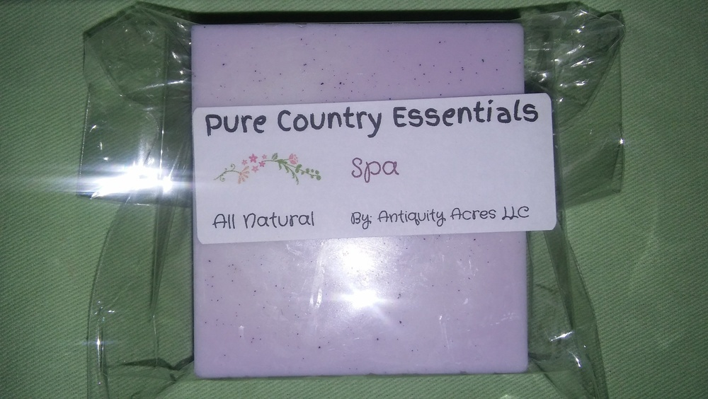 Pure Country Essentials Soap, Shea Butter, Spa Fragrance, Square
