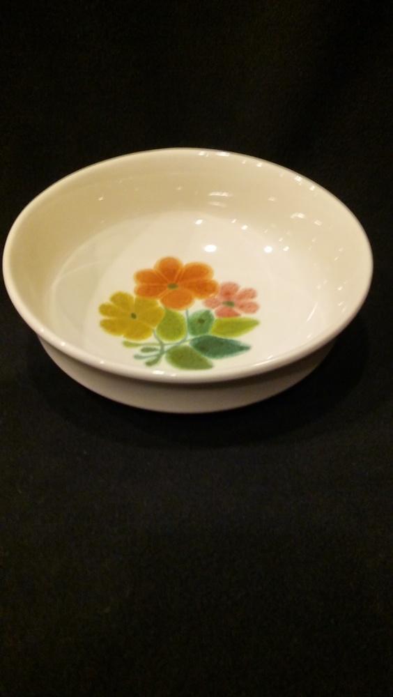 "Franciscan Earthenware, Floral Pattern, 7 3/4"" Round Vegetable Bowl"