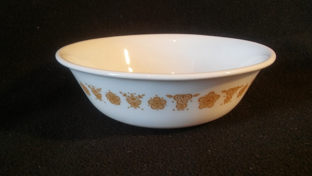 Corelle by Corning, Coupe Cereal Bowl, Golden Butterfly