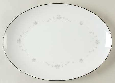 "Sango China, Oval Serving Platter 12 1/4"" , Julie Pattern #6184"