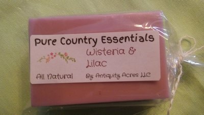 Pure Country Essentials Soap, Cocoa Butter, Wisteria & Lilac Fragrance, Rectangle