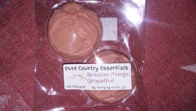 Pure Country Essentials Soap, Goats Milk, Brazilian Mango & Grapefruit Fragrance, Floral Design