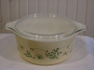 Pyrex Mixing, Nesting Bowl 1.5q, W/Tabs, Lid, #474-B, Shenandoah Pattern