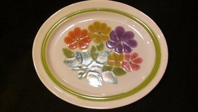 """Franciscan Earthenware, Floral Pattern, Oval Serving Platter 13.5"""""""