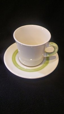 Franciscan Earthenware, Floral Pattern, Flat Cup & Saucer Set
