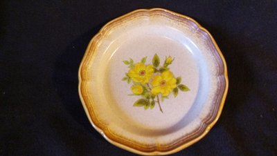 Mikasa Salad Plate, Whole Wheat, Wild Rose Pattern #E 8011, 8