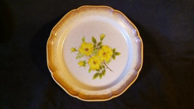 Mikasa Dinner Plate, Whole Wheat, Wild Rose Pattern #E 8011, 10 7/8