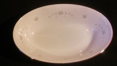 "Sango China, Oval Vegetable Bowl 10 1/2"" , Julie Pattern #6184"