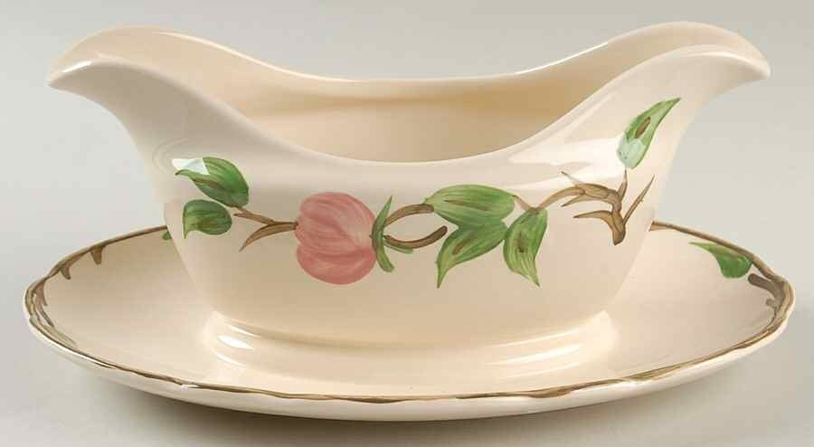 Franciscan Gravy Boat W/attached Underplate, Desert Rose