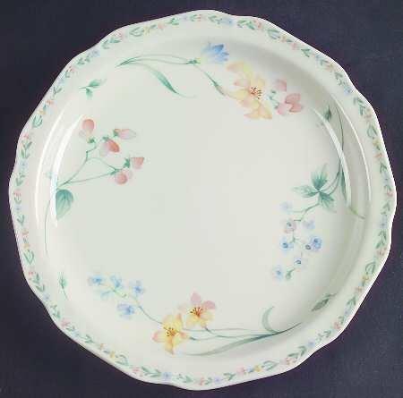 Noritake, Gala Cuisine Salad Plate, American Flowers 7912