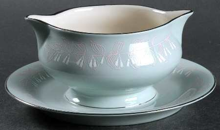 Nancy Prentiss Gravy Boat With Attached Underplate, Foxhall Pattern