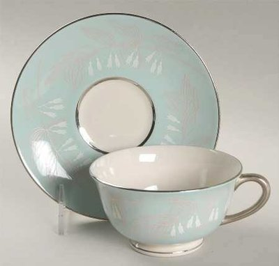 Nancy Prentiss Footed Cup & Saucer, Foxhall Pattern