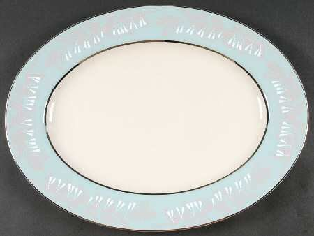 "Nancy Prentiss Oval Serving Platter 15.5"", Foxhall Pattern"