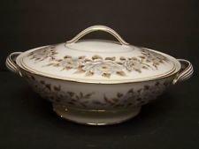 Noritake China, Round Sugar Bowl W/Cover, Pattern 5318, Glenbrook