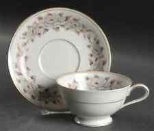 Noritake China, Footed Coffee Cup W/Saucer, Pattern 5318, Glenbrook