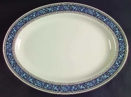 "Pickard China, Oval Serving Platter 14"", Overture Pattern"