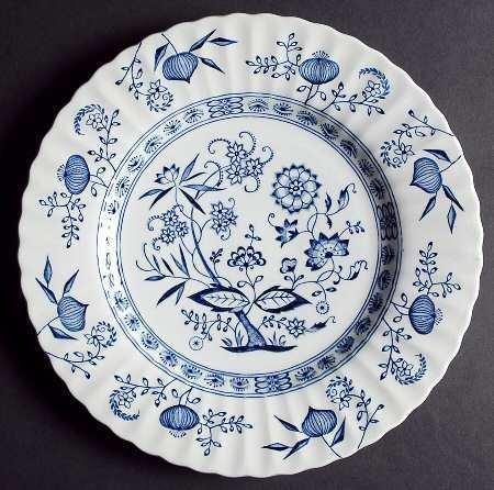 J & G Meakin, Dinner Plate, Blue Nordic Onion Pattern
