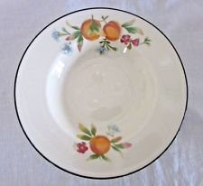 Cloverleaf Rimmed Soup Bowl, Peaches & Cream