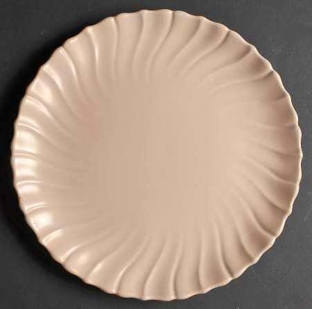 Franciscan Chop Plate, Coronado Coral Matte Swirl Pattern