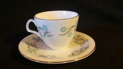 Foley Fine Bone China, Dematisse Cup & Saucer, Prelude Pattern by Maureen Tanner - 3920