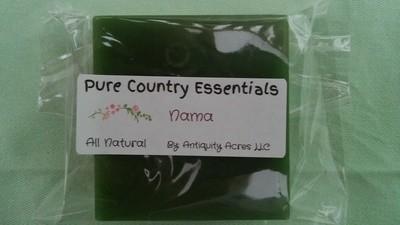Pure Country Essentials Soap, Aloe Vera Glycerin, Nama Fragrance, Square