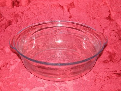 Fire King Blue Saphire Philbe Casserole Serving Dish W/O Lid