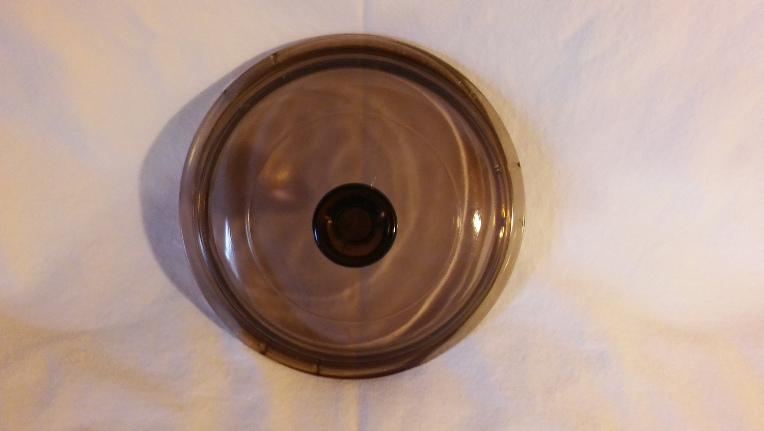 "Corning Ware Visions (Pyrex) 5 3/4""Lid for 1 Quart Round Casserole, V-1-C, Amber"