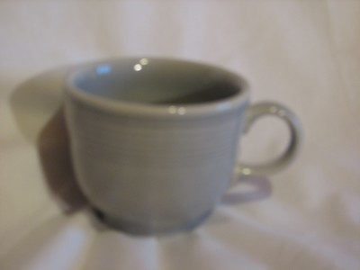 Vintage Fiestaware Coffee Cup, Light Grey