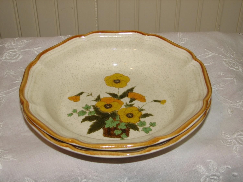 Mikasa Garden Club Rimmed Soup Bowl, Sunshine EC458