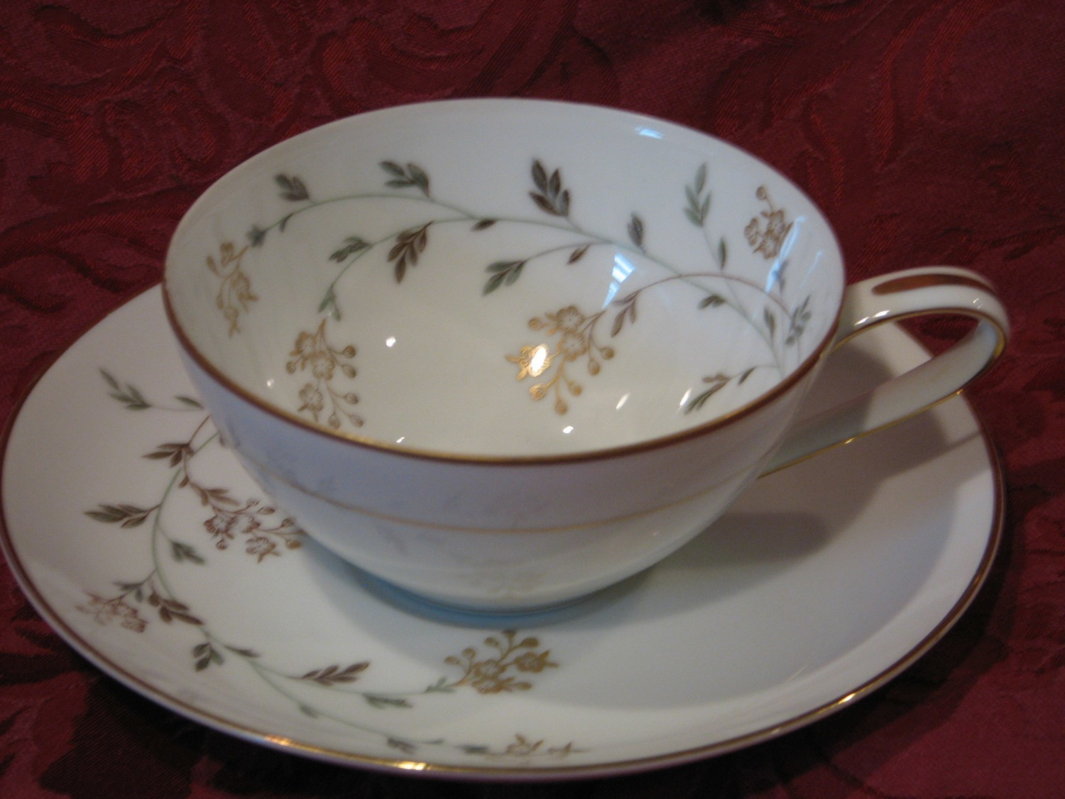 Noritake China Cup & Saucer, Andrea Pattern #5524