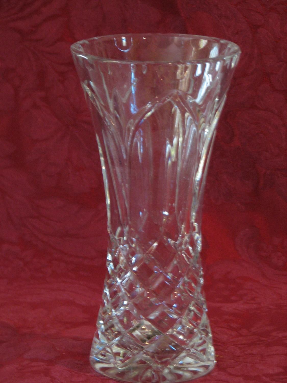 "Handcut Polish Crystal Vase, 24% Leaded 7.75"" Tall"