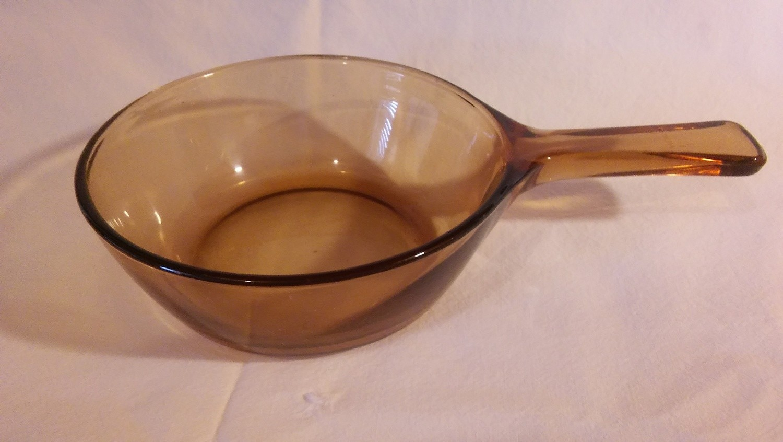 Corning Ware Visions Sauce Pan, 1 Pint (NO LID!) Amber
