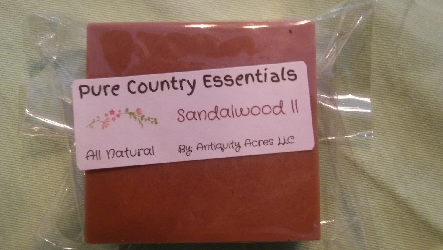 Pure Country Essentials Soap, Cocoa Butter, Sandalwood ll Fragrance, Square