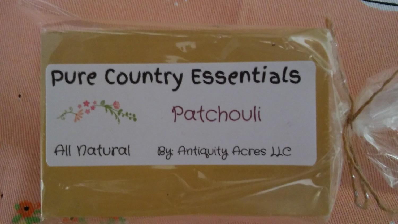 Pure Country Essentials Soap, Hemp Oil, Patchouli Fragrance, Rectangle