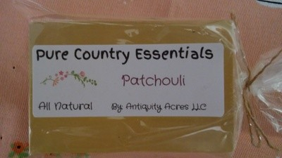 Pure Country Essentials Soap, Hemp Oil, Patchouli Fragrance, Rectangle