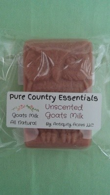Pure Country Essentials Soap, Goats Milk, Unscented, Owl Design`