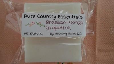 Pure Country Essentials Soap, Cocoa Butter, Brazilian Mango, Grapefruit Fragrance, Square