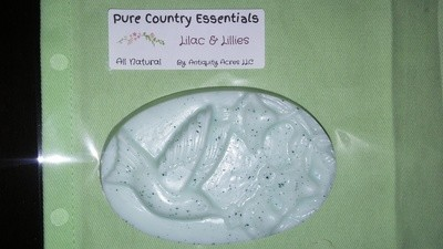 Pure Country Essentials Soap, Castile All Natural Glycerin, Lilac & Lillies Fragrance, Oval Hummingbird Design