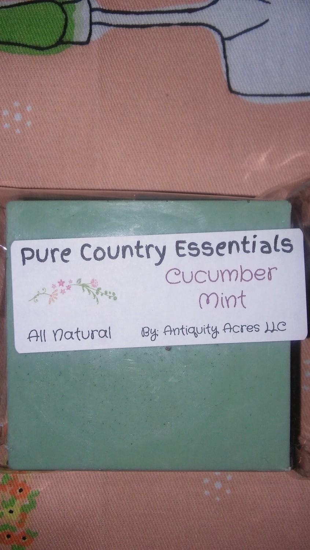 Pure Country Essentials Soap, Shea Butter, Cucumber Mint, Square