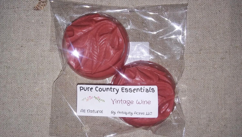 Pure Country Essentials Soap, Goats Milk, Vintage Wine Fragrance, Floral Design