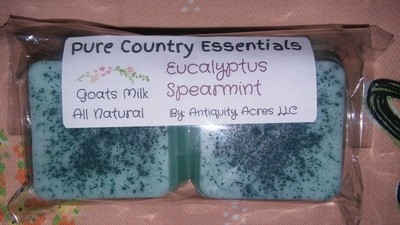 Pure Country Essentials Soap, Goats Milk, Eucalyptus & Spearmint Fragrance, Guest Squares, (2 Pack)