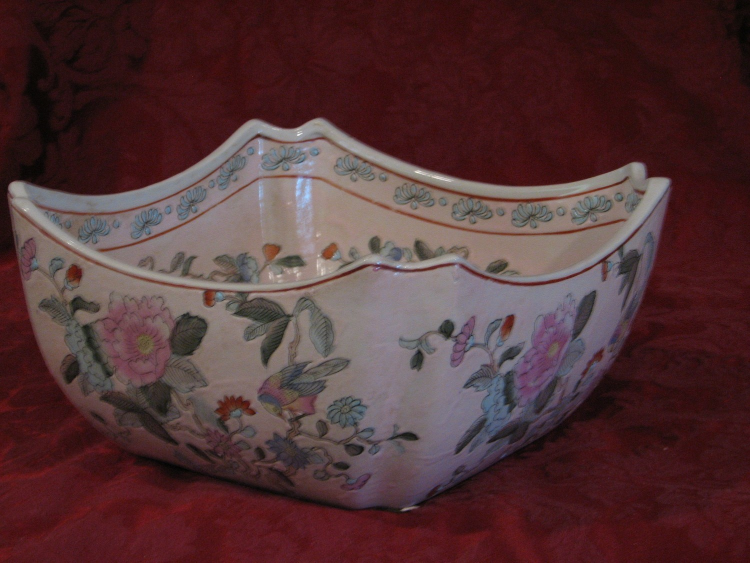 "Hey Gill & H.F.P. Macau Decorative ""Dynasty"" Square Bowl, Made in China"