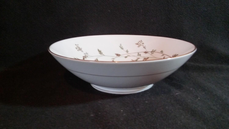 "Noritake China Round Vegetable Bowl 8"" Andrea Pattern #5524"