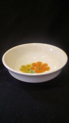 """Franciscan Earthenware, Floral Pattern, Fruit, Dessert, Sauce Bowl 5 1/4"""""""