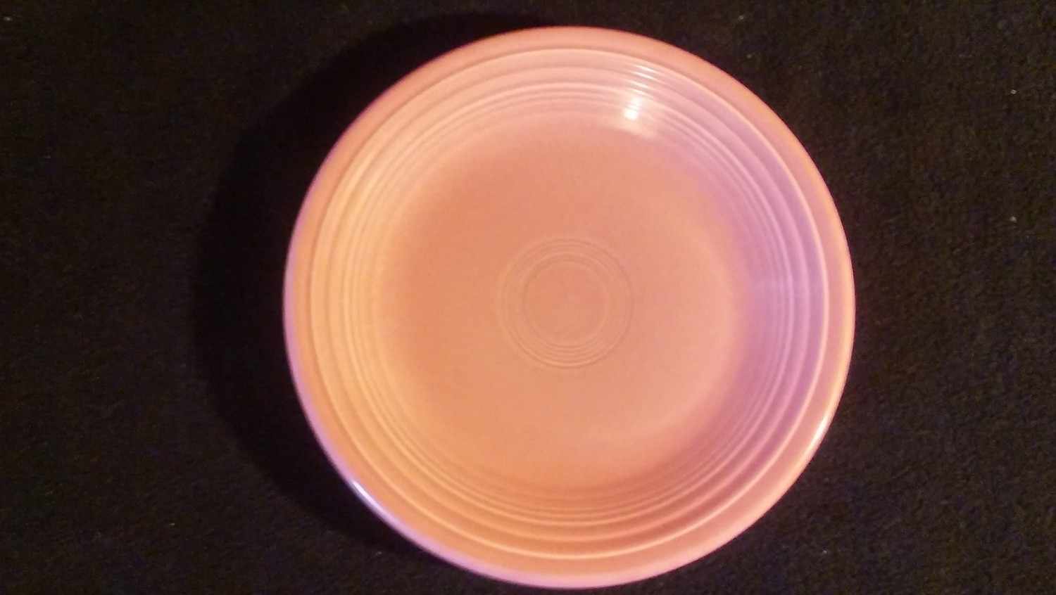 """Fiestaware by Homer Laughlin, Salad Plate 7 1/4"""", Salmon Pink Color"""