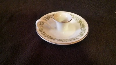 Mikasa Fine China, Handled Candleholder, Montclair Pattern #G9059