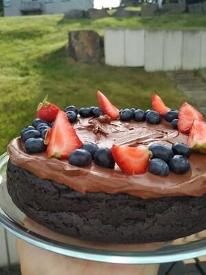 Fudgy choco cake