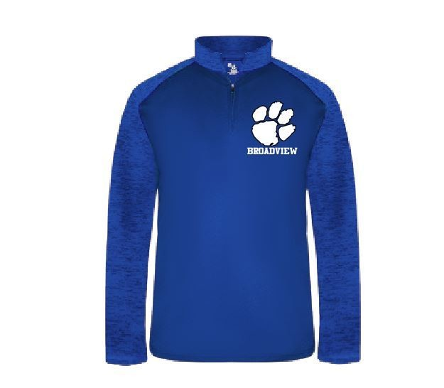 Badger Sport Tonal Blend 1/4 Zip w/embroidered logo
