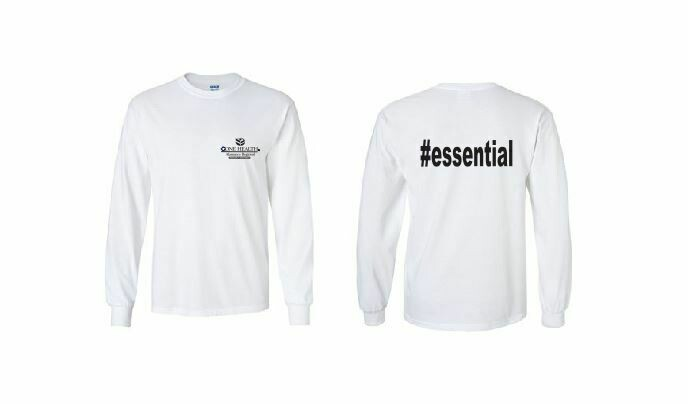 #essential LS Tee with Front Left Chest and Back Print