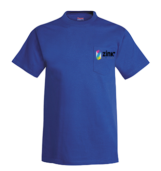 Hanes Short Sleeve Pocket T Shirt with embroidery